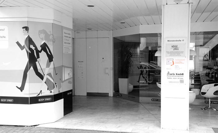Frauenberatungsstelle Gütersloh, Eingangsbereich Münsterstraße 17